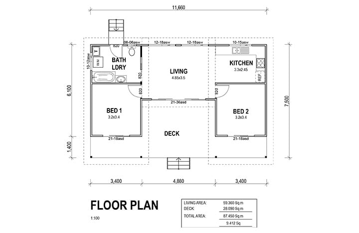 Kit Homes  Melrose Floorplan