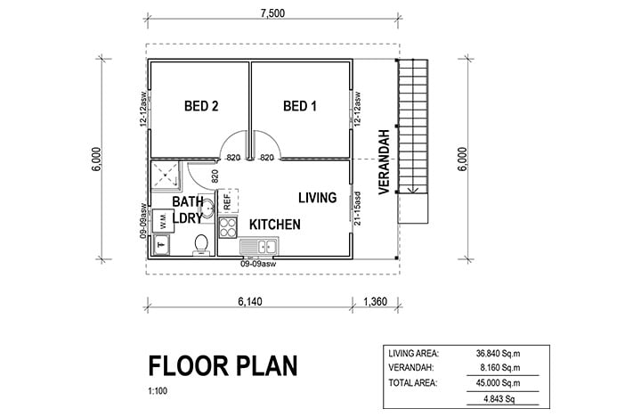 Kit Homes Portland Floor Plan