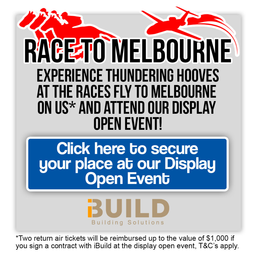iBuild Display Homes Melbourne Open Event Fly to Melbourne Races